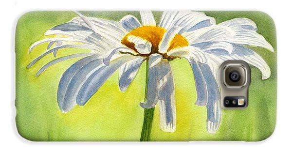 Daisy Galaxy S6 Case - Single White Daisy Blossom by Sharon Freeman