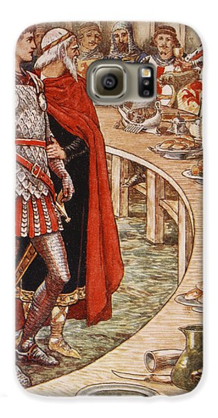 Sir Galahad Is Brought To The Court Of King Arthur Galaxy S6 Case by Walter Crane