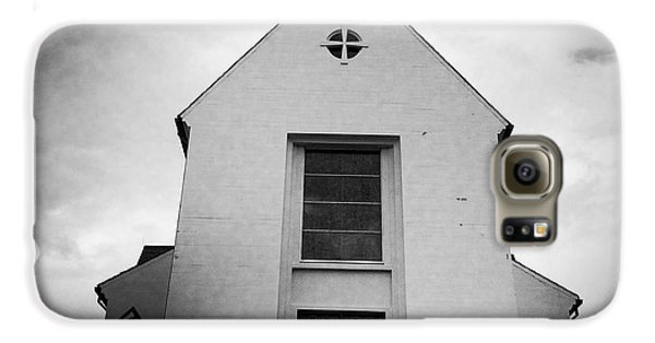 Skalholt Cathedral Iceland Europe Black And White Galaxy S6 Case by Matthias Hauser