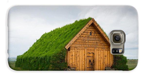 Skalholt Iceland Grass Roof Galaxy S6 Case by Matthias Hauser