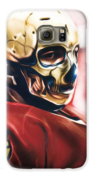 Galaxy S6 Case featuring the painting Skull Mask by Mike Oulton 25c6e027f