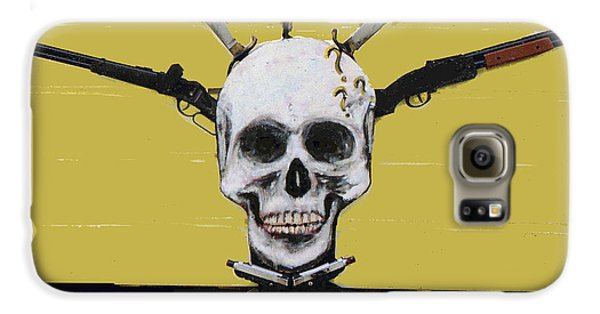 Skull With Guns Galaxy S6 Case