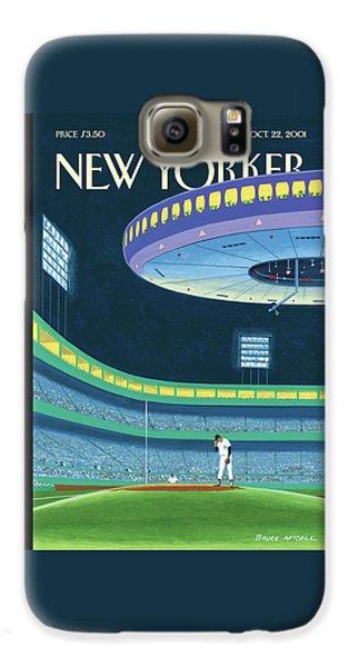 Yankee Stadium Galaxy S6 Case - Sky Box by Bruce McCall