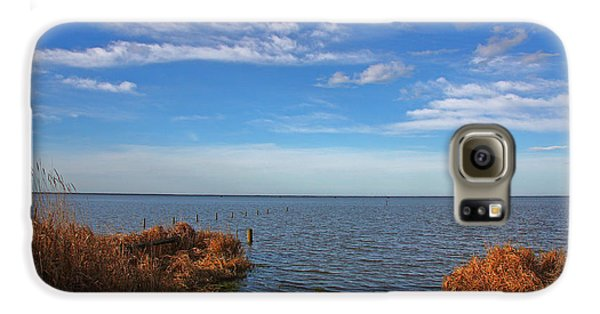 Galaxy S6 Case featuring the photograph Sky Water And Grasses by Nareeta Martin