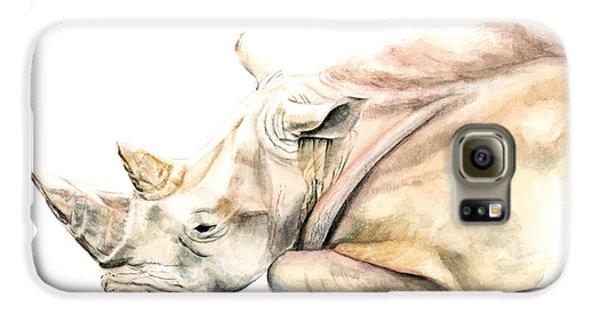 Small Colour Rhino Galaxy S6 Case by Elizabeth Lock