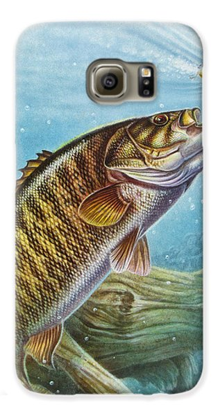Bass Galaxy S6 Case - Smallmouth Bass by JQ Licensing