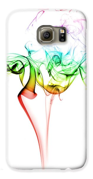 Colours Galaxy S6 Case - Smoke And Colours by Samuel Whitton