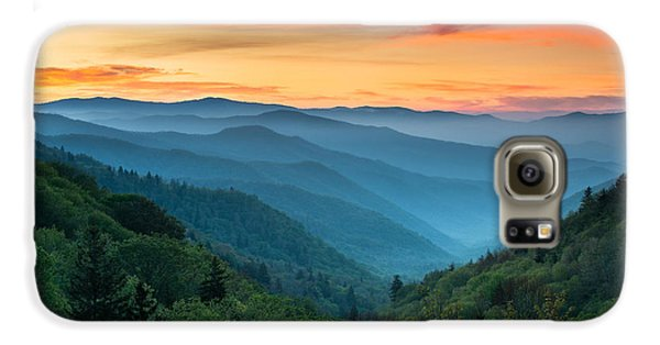 Landscapes Galaxy S6 Case - Smoky Mountains Sunrise - Great Smoky Mountains National Park by Dave Allen