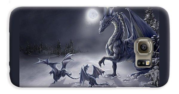 Dragon Galaxy S6 Case - Snow Day by Rob Carlos