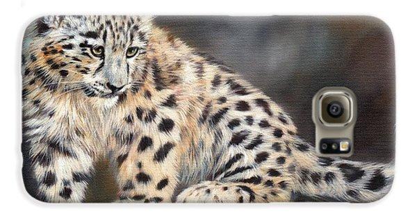 Snow Leopard Cub Galaxy S6 Case