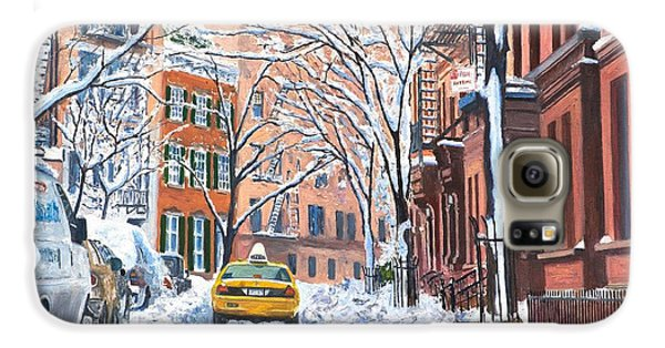 Town Galaxy S6 Case - Snow West Village New York City by Anthony Butera