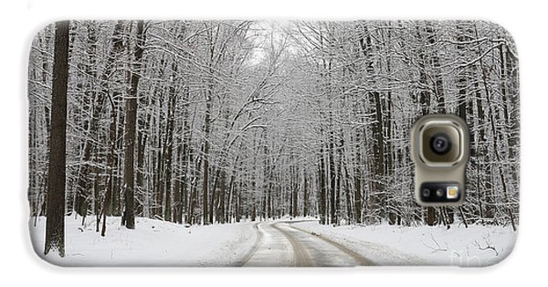 Snowy Road In Oak Openings 7058 Galaxy S6 Case