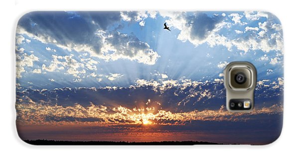 Galaxy S6 Case featuring the photograph Soaring Sunset by Anthony Baatz