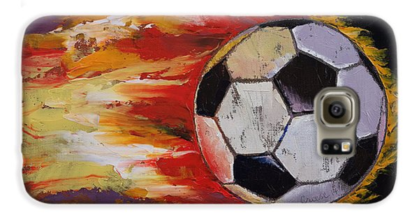 Soccer Galaxy S6 Case by Michael Creese