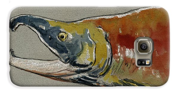 Sockeye Salmon Head Study Galaxy S6 Case