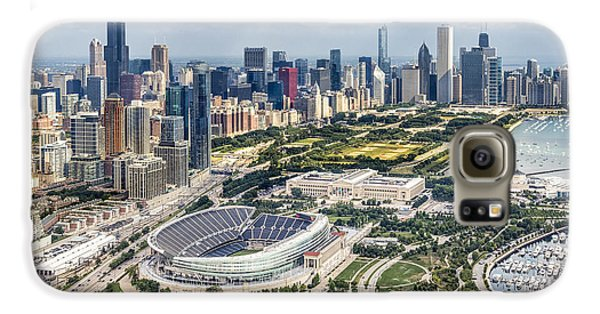 Soldier Field And Chicago Skyline Galaxy S6 Case by Adam Romanowicz