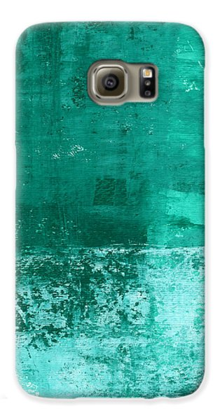 Soothing Sea - Abstract Painting Galaxy S6 Case by Linda Woods