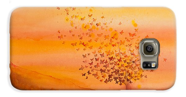 Soul Freedom Watercolor Painting Galaxy S6 Case by Michelle Wiarda