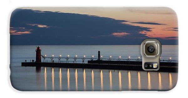South Haven Michigan Lighthouse Galaxy S6 Case by Adam Romanowicz