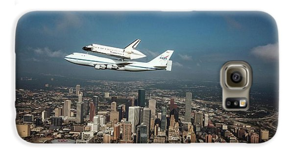 Space Shuttle Endeavour Piggyback Flight Galaxy S6 Case by Nasa/sheri Locke