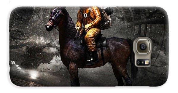 Horse Galaxy S6 Case - Space Tourist by Vitaliy Gladkiy