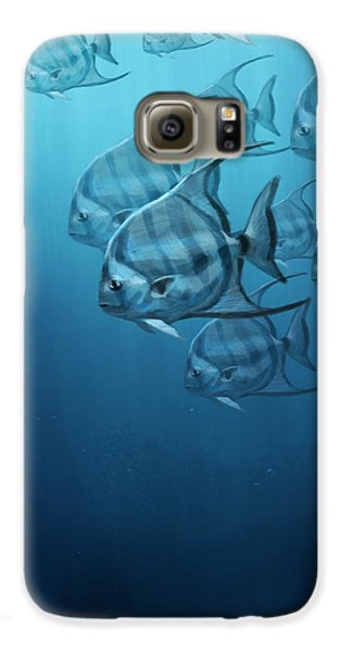 Fish Galaxy S6 Case - Spade Fish by Aaron Blaise