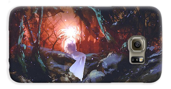 Magician Galaxy S6 Case - Spirit Of The Enchanted Forest,woman In by Tithi Luadthong