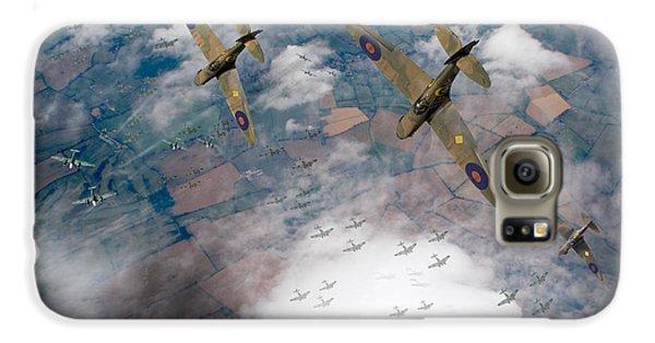 Raf Spitfires Swoop On Heinkels In Battle Of Britain Galaxy S6 Case by Gary Eason