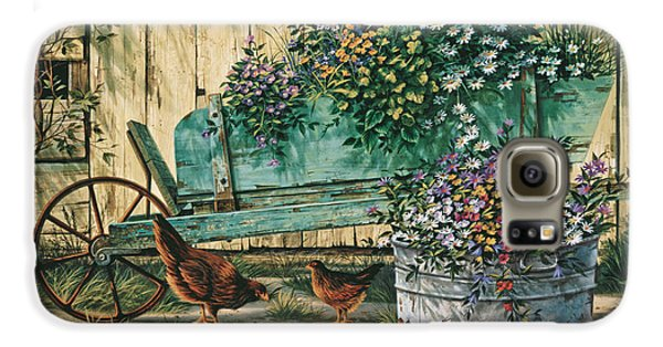 Chicken Galaxy S6 Case - Spring Social by Michael Humphries