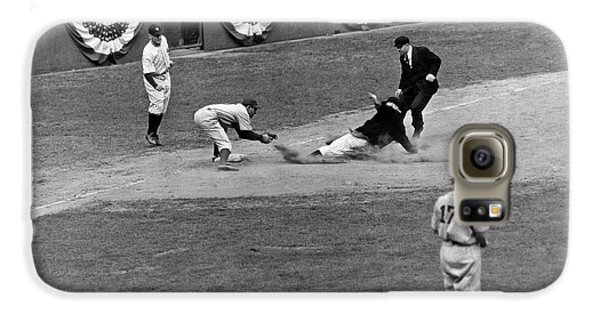 Spud Chandler Is Out At Third In The Second Game Of The 1941 Wor Galaxy S6 Case by Underwood Archives
