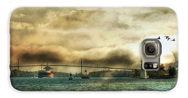 Geese Galaxy S6 Case - St. Lawrence Seaway by Lori Deiter