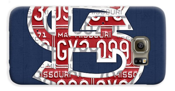 Cardinal Galaxy S6 Case - St. Louis Cardinals Baseball Vintage Logo License Plate Art by Design Turnpike