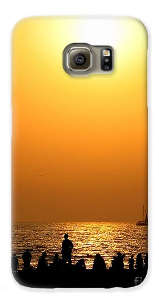 St. Petersburg Sunset Galaxy S6 Case by Peggy Hughes