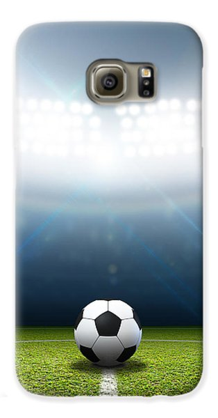 Stadium And Soccer Ball Galaxy S6 Case by Allan Swart