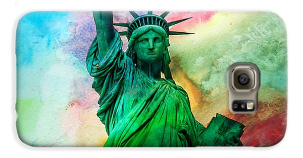 Statue Of Liberty Galaxy S6 Case - Stand Up For Your Dreams by Az Jackson