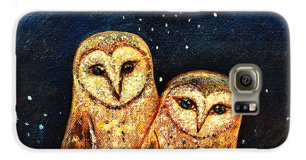 Owl Galaxy S6 Case - Starlight Owls by Shijun Munns