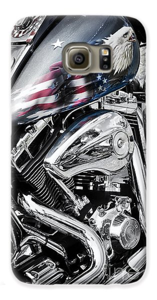 Motorcycle Galaxy S6 Case - Stars And Stripes Harley  by Tim Gainey