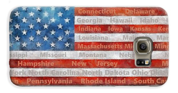 Stars And Stripes With States Galaxy S6 Case