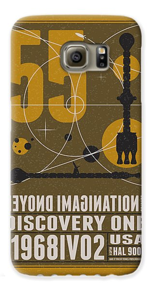 Science Fiction Galaxy S6 Case - Starschips 55-poststamp -discovery One by Chungkong Art