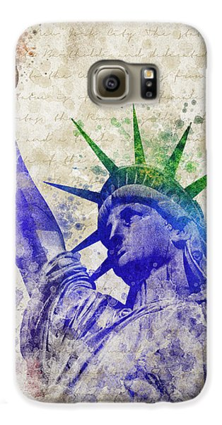 Statue Of Liberty Galaxy S6 Case by Aged Pixel