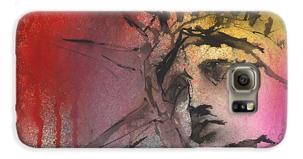 Statue Of Liberty New York Painting Galaxy S6 Case