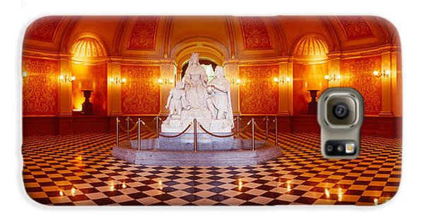 Statue Surrounded By A Railing Galaxy S6 Case by Panoramic Images