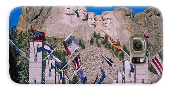 Statues On A Mountain, Mt Rushmore, Mt Galaxy S6 Case by Panoramic Images