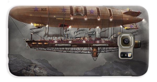 Steampunk - Blimp - Airship Maximus  Galaxy S6 Case