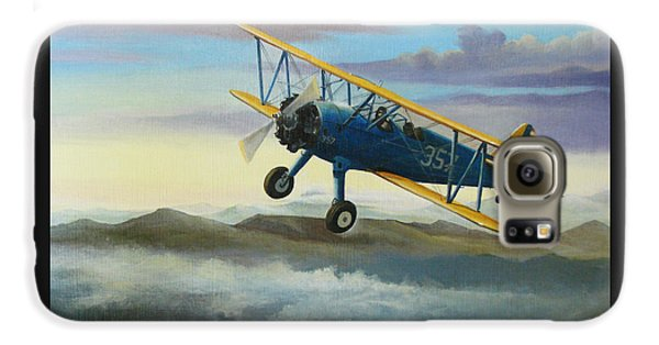 Airplane Galaxy S6 Case - Stearman Biplane by Stuart Swartz