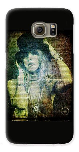 Rock And Roll Galaxy S6 Case - Stevie Nicks - Bohemian by Absinthe Art By Michelle LeAnn Scott