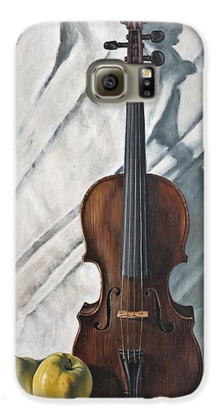 Violin Galaxy S6 Case - Still Life With Violin by John Lautermilch