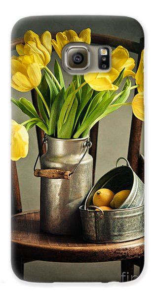 Still Life With Yellow Tulips Galaxy S6 Case by Nailia Schwarz