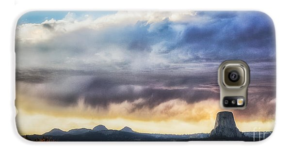Storm Clouds Over Devils Tower Galaxy S6 Case