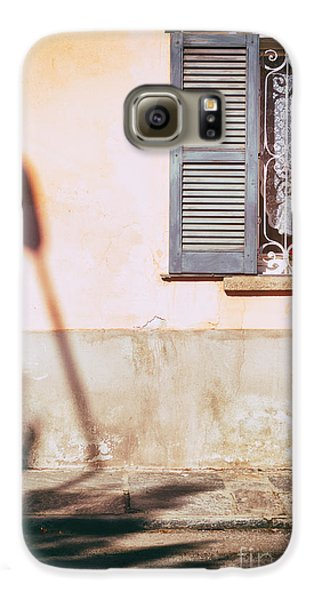 Galaxy S6 Case featuring the photograph Street Lamp Shadow And Window by Silvia Ganora